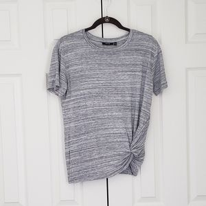 Gray knot front top